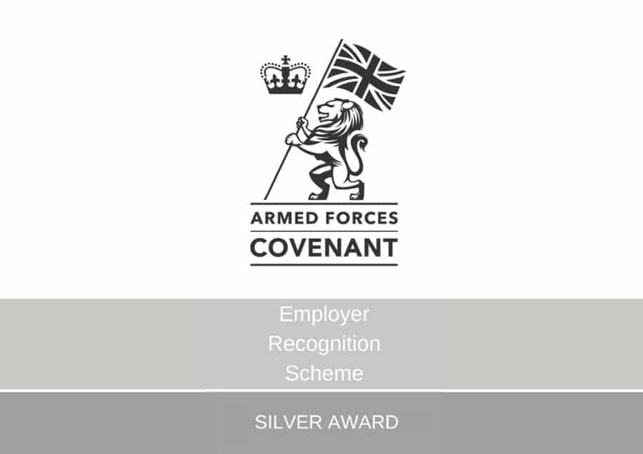 Armed Forces Employer Recognition Scheme Silver Award For BD Print